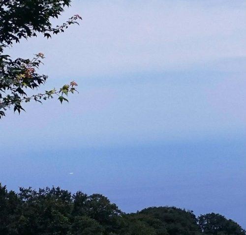 こんな夏の青もあるんだね。風も気持ちいい久須夜ケ岳山頂近くより。