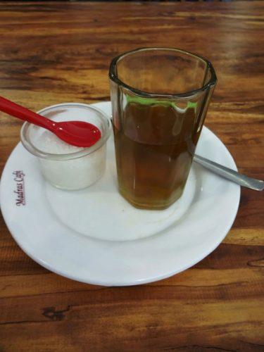 Tulsi Tea。暖まりますね。